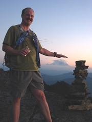 Tread Well patting Rainier