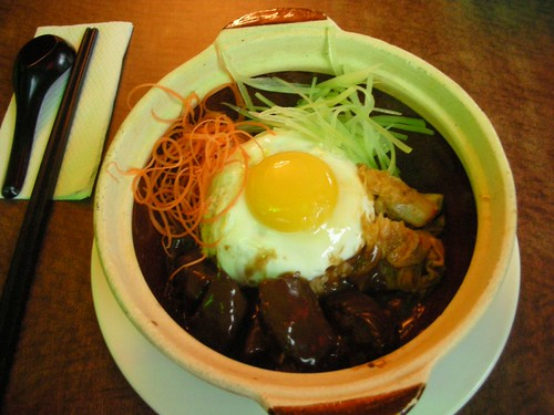Braised Beef Rice with Kimchi