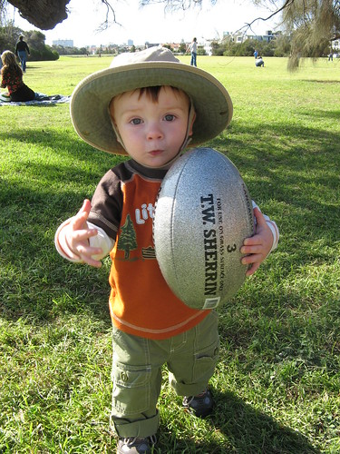 Henry plays Aussie Rules Football