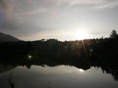 82.向天湖、夕陽以及倒影