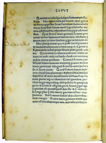 Page of Text with Marginal Annotation from 'Enneas Muliebris'