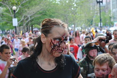 Zombie Walk (SocioTom) Tags: boston march hall scary blood zombie walk center tourists horror government guns haymarket swords horde copley bostoncommon faneuil swarm lurch southstation guts 2010 survivors stumble