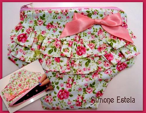 Calcinha Necessaire Floral by ♥♥♥ARTEIRA DEMAIS♥♥♥