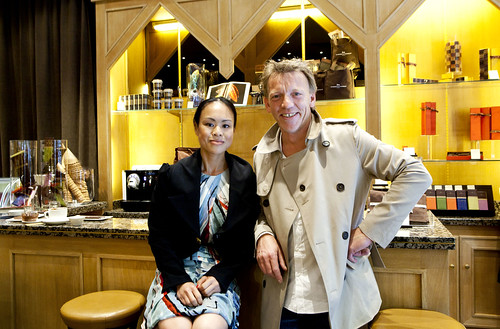 La Maison du Chocolat's Creative Director, Gilles Marchal and I