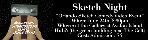 Orlando Video Sketch Comedy Night Ad