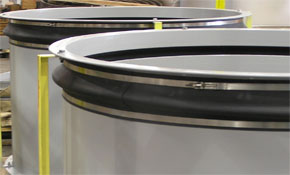 Two Expansion Joints for an Air Intake on a Generator Unit at a Packaged Power facility in Houston