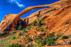 Landscape Arch HDR (Jim Dollar) Tags: canon utah archesnationalpark hdr jimdollar