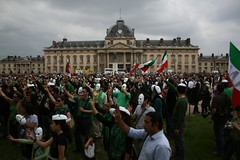 (22) (sabzphoto) Tags: people paris france iran crowd protest farshad  iranelection   farahsa