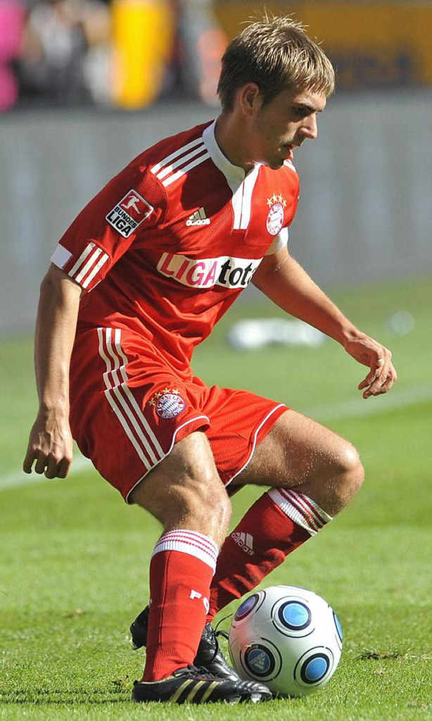 Muscular thighs of Philipp Lahm