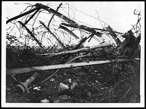 Idea of the strength of the German barbed wire at Beaucourt