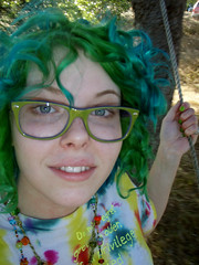 Fact: I've always loved swinging (Megan is me...) Tags: california original portrait green apple colors fashion self hair photography grey glasses spring amazing cool eyes colorful neon pretty ray colours mckay bright turquoise unique oneofakind ooak awesome meg megan style curls curly colored swinging dye ban curlyhair punky dyed springgreen smartsville megface jeromerussell meganisme meganyourface