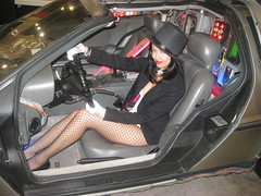 Zatanna in the Delorean (VictoriaCosplay) Tags: cosplay delorean backtothefuture zatanna wizardworldphilly victoriacosplay wwwcosplaygirlwebscom philadelphiacomiccon