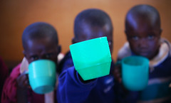 Shining Future Series no. 12:  my cup (ROSS HONG KONG) Tags: africa blue green cup students children mugs student child kenya african sony cups mug alpha kenyan baraka a900
