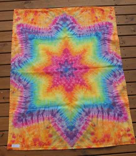 orange star blanket silk