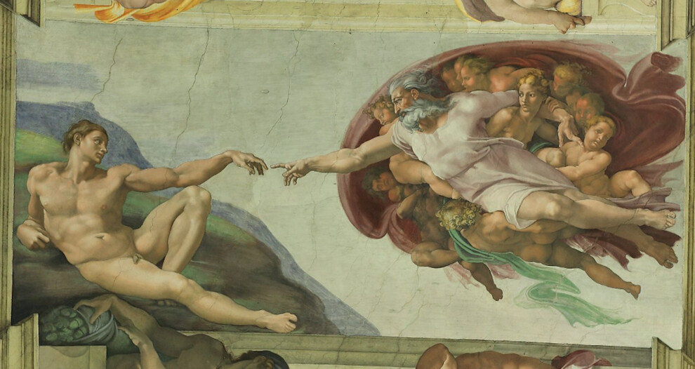 God creates Adam - Painting in Sistine Chapel