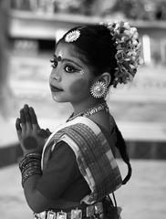 Namaste  (~Mina~) Tags: atlanta portrait bw white black love girl canon georgia kid hare peace indian award kind explore krishna hindi namaste harekrishna peopleschoice aplusphoto