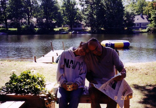 My (step)dad and I at the cottage