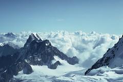 France 19Sep92 Chamonix looking E from Mont Blanc du Tacul (Wanderlust676) Tags: france alps midi chamonix blanc glace erudition tacul