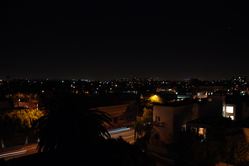 LA night view