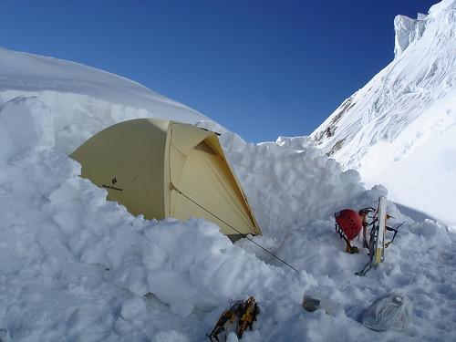 Yerupaja, campo alto (5600m)