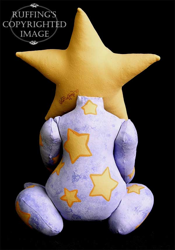 Leah the Star Baby, Original One-of-a-kind Folk Art Fairy Doll by Elizabeth Ruffing