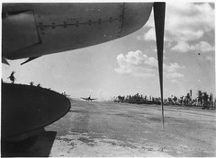 Landing Strip on Tarawa - F6F Hellcats (afigallo) Tags: usmc airplane war force pacific air wwii navy ww2 marines airstrip engineers hellcat tarawa f6f betio