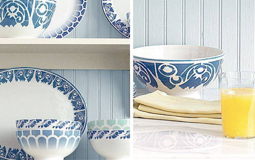 martha stewart blue and white