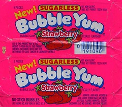 Strawberry Bubble Yum gum wrapper