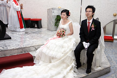 Wedding of College Schoolmate - Anchi Chang (*Yueh-Hua 2016) Tags: canon eos catholic taiwan tokina catholicchurch 1224mm  30d   taipeicounty   canonspeedlite430ex canoneos30d horizontalphotograph  t124  tokinaatx124proifdx1224mmf4  2007august   sindiancity anchichang collegeschoolmate