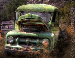 open mouth (Kris Kros) Tags: california ca usa bus ford cali yard truck mouth photography losangeles high junk nikon open dynamic socal kris handheld junkyard d200 openmouth range hdr kkg 1951 zor kros kriskro