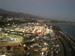 Ventura fairgrounds looking east. (flyingcamera) Tags: ocean california above park sea kite water night photography flying sand surf wind aerial kites 101 kap aerialphotography ventura kiteaerialphotography rokkaku kiteview