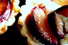 plum-almond tartlets
