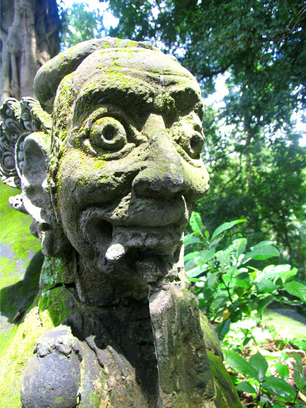 Temple statue in Monkey Forest Sanctuary