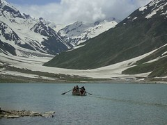 SaifulMalook Lake (hhrahman) Tags: road pakistan mountain snow nature water colors river way landscape north glacier northern cooling naran sawat saifulmalook