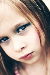 If looks could kill (Lá caitlin) Tags: blue portrait face kid eyes child molly stare