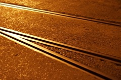 Tracks (Andy McCarthy UK) Tags: night tracks railway harbourside