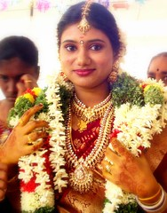 A Tamil Bride (Kamala L) Tags: wedding woman india beautiful topv111 bride women topv1111 marriage tamilnadu 50millionmissing warondowry