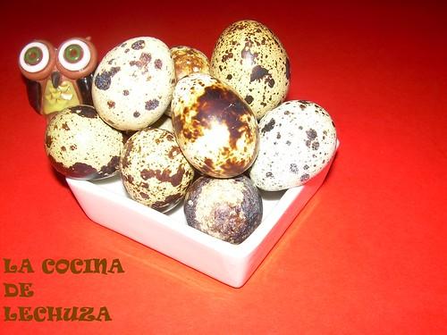 Albondigas sorpresa-huevos codorniz cocidos