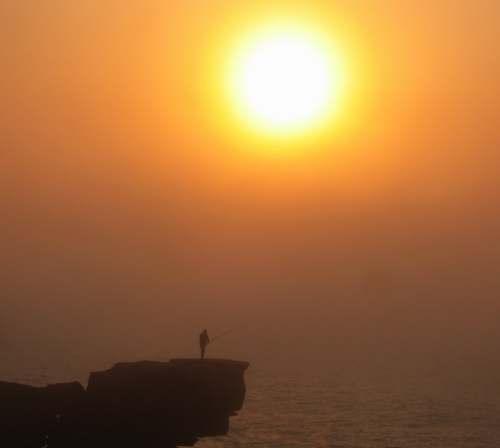 Posta de sol a Peniche (Portugal)