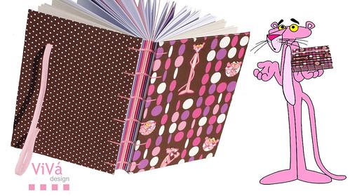 Sketchbook da Pantera Cor-de-Rosa