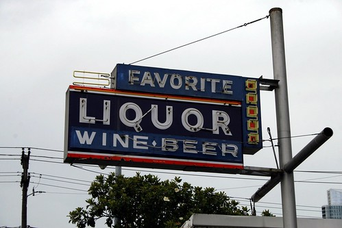 favorite liquor & wine neon sign