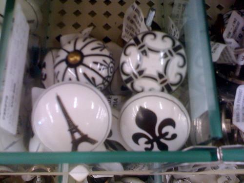 black and white knobs
