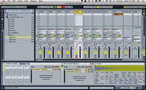 Ableton Live setup - church music rig