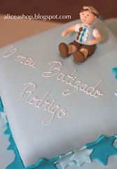 No topo de bolo ;)