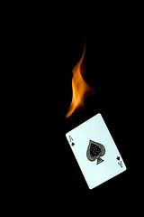 The Burn Card (ICT_photo) Tags: fire texas ace poker flame burn card deal holdem dealer spade