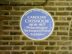 Photo of Caroline Chisholm blue plaque