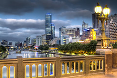 St Kilda Road Bridge Melbourne (moronif) Tags: bridge sunrise australia melbourne hdr stkildaroad mywinners canon7d