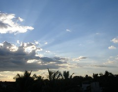 CLOUDS.... (Chaitra Gowda) Tags: sunset sky clouds rays flickrsbest specnature