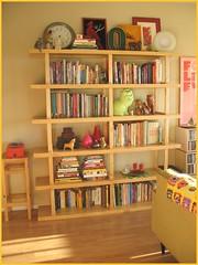 living room shelves (bitsandbobbins) Tags: ikea home apartment books bookshelf bookshelves thrifted sfapartment apartmenttherapysanfrancisco