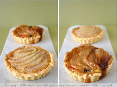 Pear Tart, light or dark